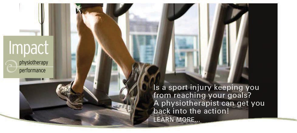 Impact Physiotherapy: Is a sport injury keeping you from reaching your goals? A physiotherapist can get you back into the action! Learn more here.
